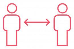 Icon Distanz halten