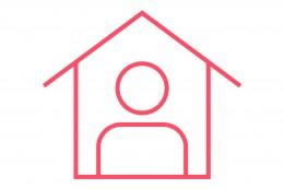 Icon zuhause bleiben