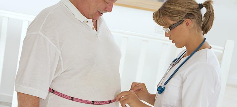 Übergewichtiger Patient