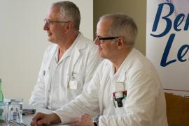 OA Dr. Thomas Muhr und MR Univ.-Doz. Dr. Friedrich Prischl
