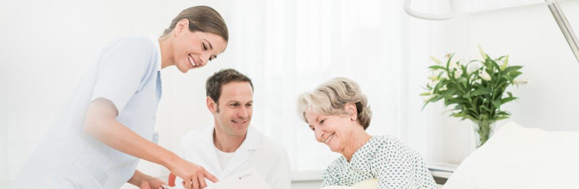 Pflege Arzt Patientin