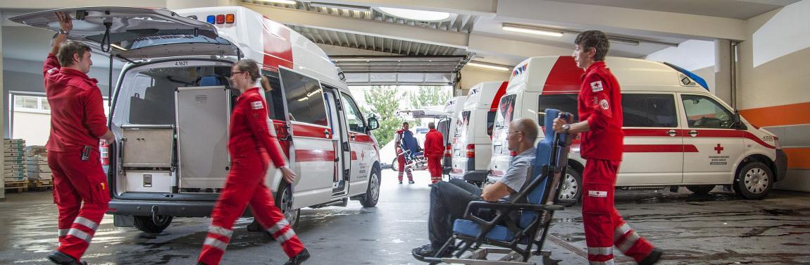 Rettungshalle Notdienste