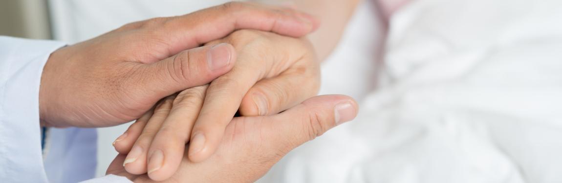 Hände Arzt Patient