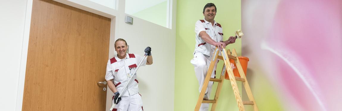 Malermeister Thomas Schmidbauer und Johann Baumgärtner