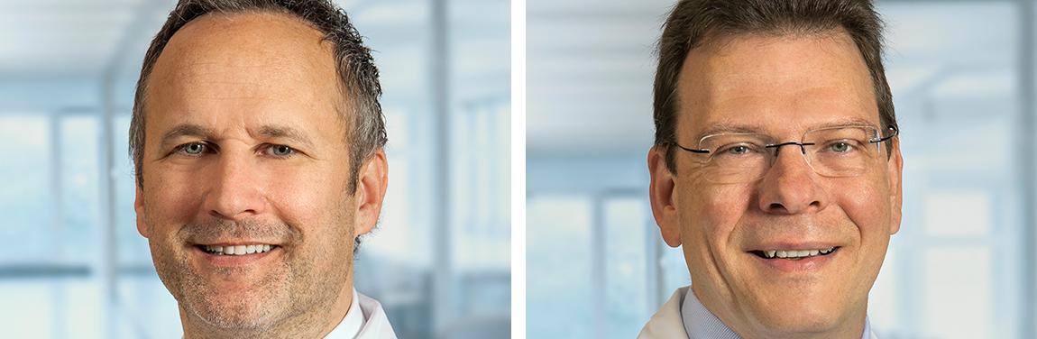 Prim. Univ.-Prof. Dr. Andreas F. Zierer und OA Prof. Dr. Hans Joachim Geißler