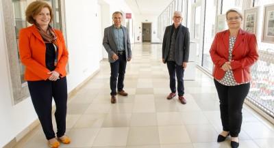 v.l.n.r. Mag.a Ulrike Kneidinger-Peherstorfer, Prim. Dr. Adrian Kamper, Josef Hölzl, MSc, Mag.a Silvia Breitwieser
